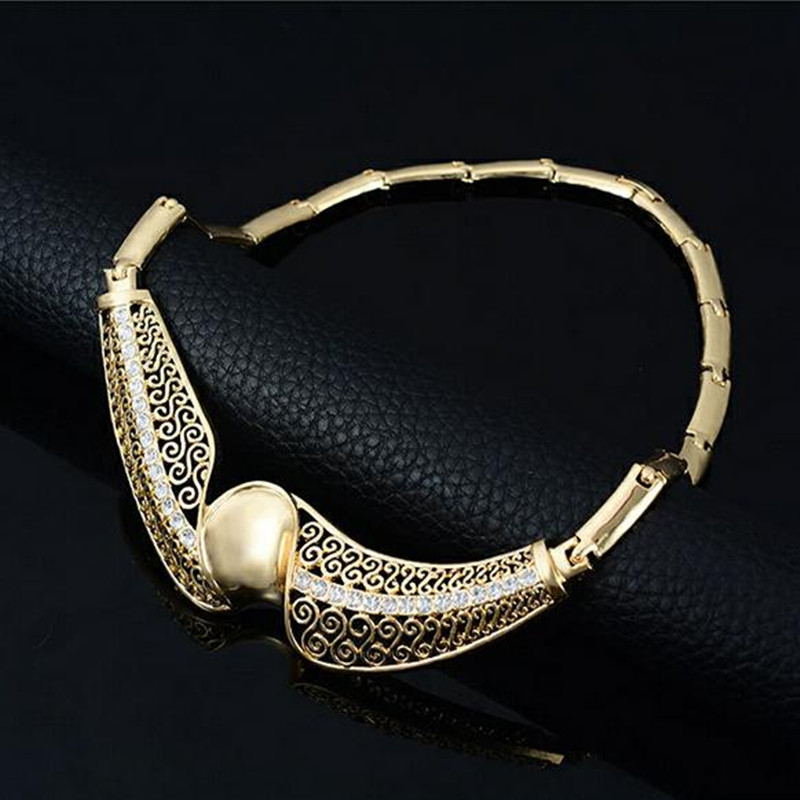 2016 New Design African Indian Fashion Brand Gold Jewelry Sets ...
