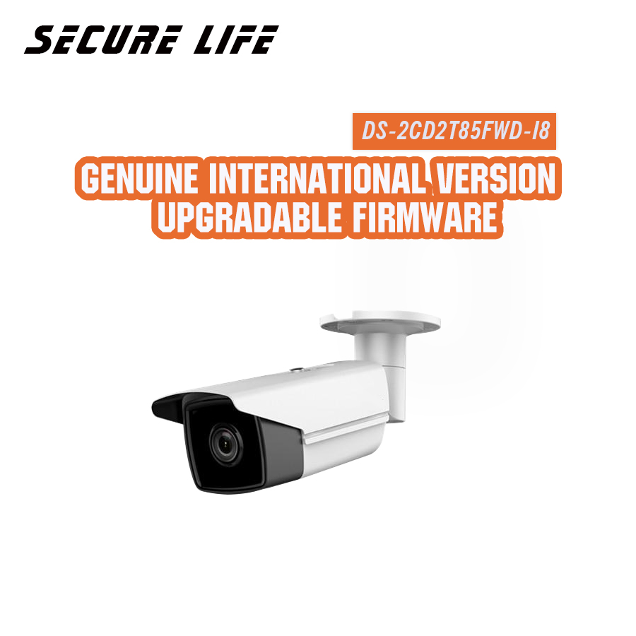 Free shipping English version DS-2CD2T85FWD-I8 8MP Network Bullet IP security Camera POE SD card 80m IR H.265+ english version ds 2cd2035fwd i 3mp mini ultra low light network bullet ip camera poe wdr 30m ir sd card h 265
