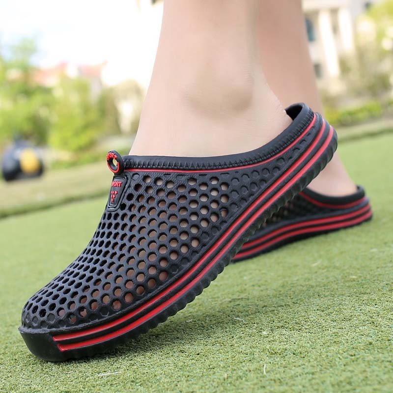 Hot Jelly Shoes Slippers Men Sandals Breathable New Summer Casual Man Outdoor Beach Flip Flops Shoe Fashion Men's footwear цена