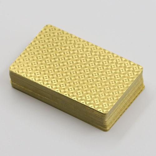 New High Grade 24K Gold Foil Poker Lattice Grid Pattern Playing Cards
