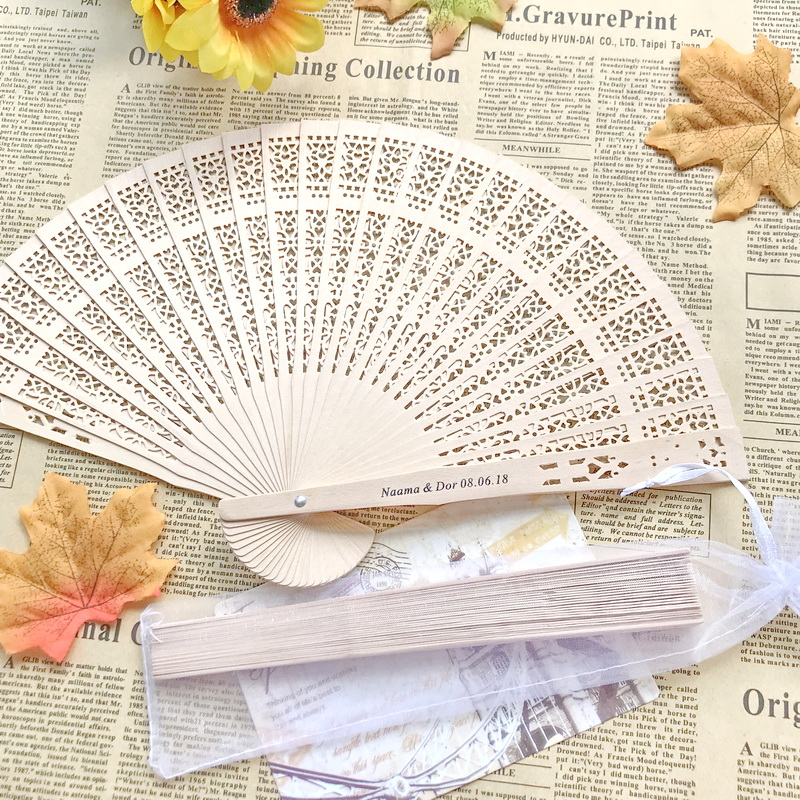 80pcs lot FREE SHIPPING Personalized Hand Fan Favors Chinese Wooden Folding Fan Customized Wedding Party