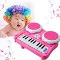 Bebê musical educacional developmental brinquedo de tambor música de piano para crianças musical toys do diodo emissor de luz crianças toys frete grátis