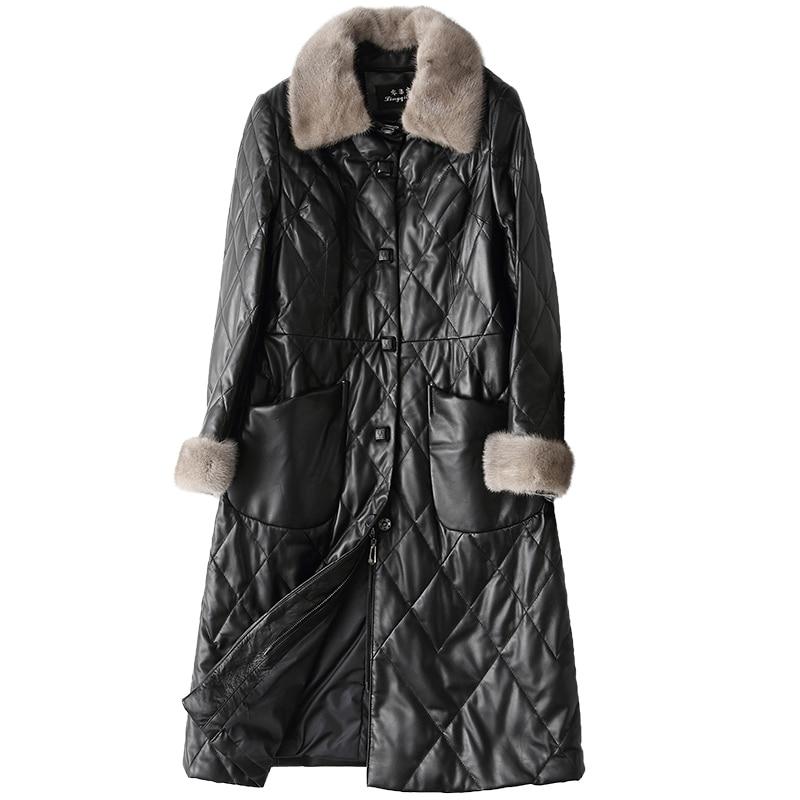 sale retailer 76940 2451b Di Visone Donne Natural Donna Vera Pelliccia Tuta Pecora ...