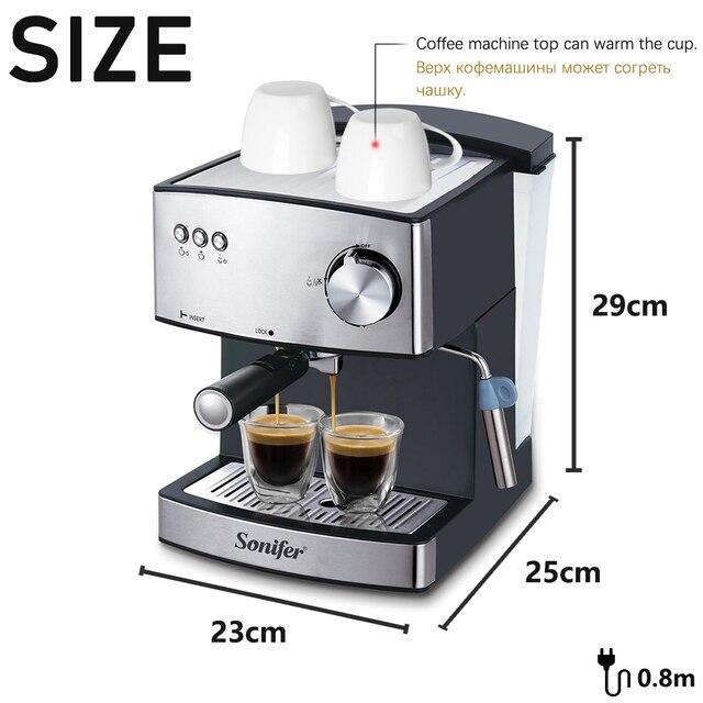 1.6L Espresso Electric Coffee Machine Express Electric Foam Coffee Maker Electric Milk Frother Kitchen Appliances 220V Sonifer 5