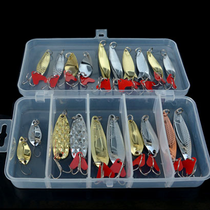 JTLURE 21pcs Gold silver Fishing Lures Spoon Bait Metal Lure Kit iscas artificias Hard Bait Fresh Water Bass Pike Bait Fishing spoon fishing lure metal bait gold silver 10g 15g 20g hard lure spoon bait fishing lures free shipping