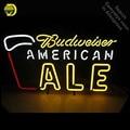 Budweise Американский ALE неоновая световая вывеска стеклянная трубка ручной работы пивная настенная световая вывеска lampara неоновая Персонализ...