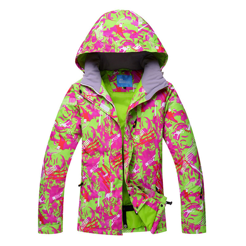 Women Ski Jacket Ski Wear Winter Clothing Windproof Waterproof Breathable Outdoor Sport Wear Skiing Snowboard Super Warm Coat