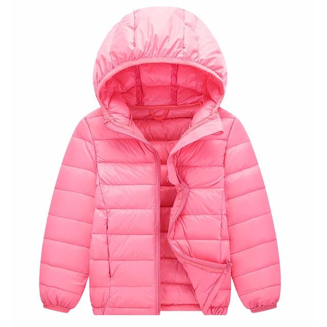6641906493e82 Ultra Light Children Hooded Down Jacket 2017 Autumn Winter Baby Girls Boys  Outerwear Kids White Duck Down Warm Coats 3-14 Years