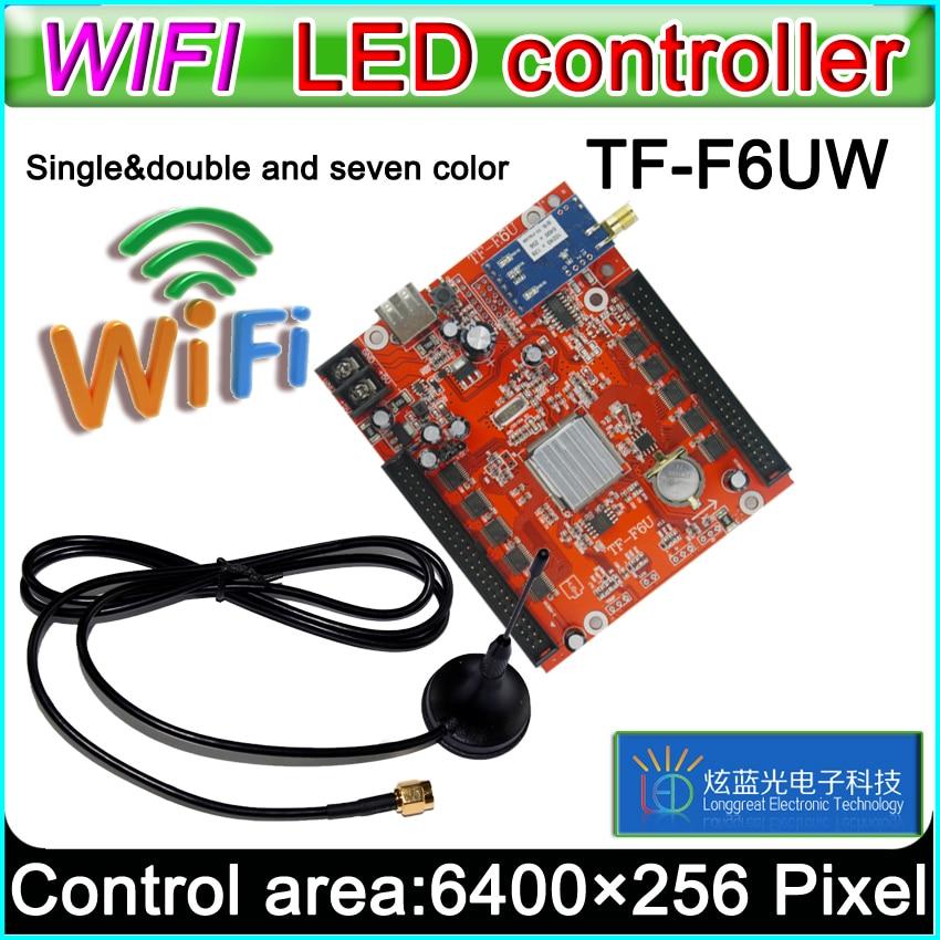 TF-F6UW wifi led Controller Card, p10 *** module Single&Dual color led signs,  conventional p10 LED display control cardTF-F6UW wifi led Controller Card, p10 *** module Single&Dual color led signs,  conventional p10 LED display control card