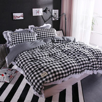 Winter Husky Four Set Wholesale Market Stall Special Offer Washed Cotton Four Piece 3D Sheets Four