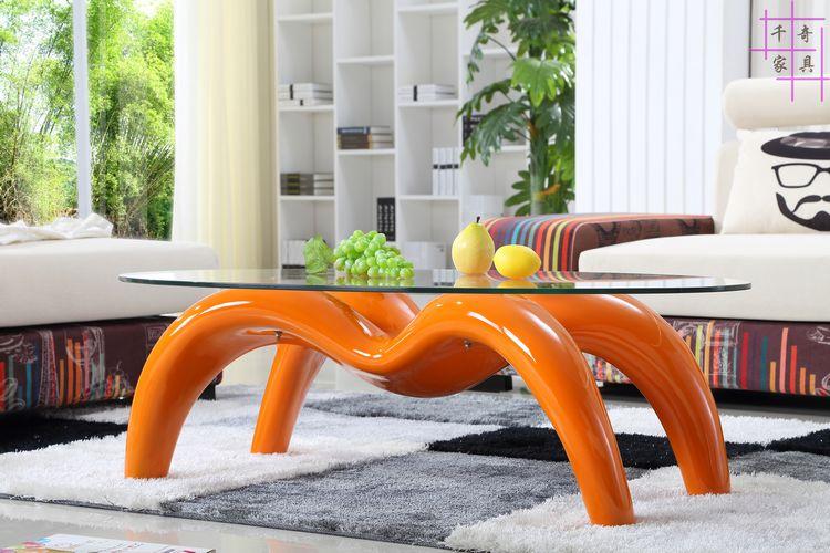 Мода Творческий паук чайный столик. Закаленное стекло Овальный. Чай Таблица