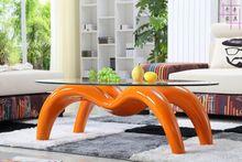 Мода творческий паук чайный столик. закаленное стекло овальный. чайный столик