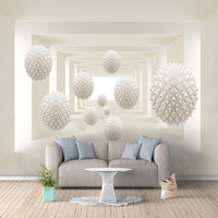 Custom 3D Photo Wallpaper Modern Simple Creative Designs Stereoscopic Space Round Ball Large Mural Wall Painting