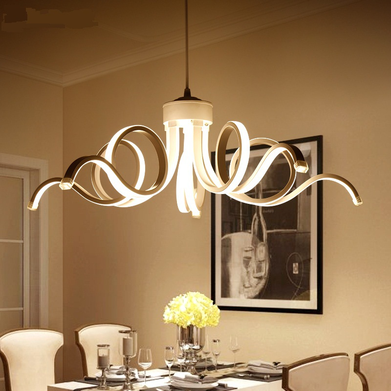 Modern Aluminum Acrylic Special-shaped Chandelier Restaurant lights personality creative art gallery LED meal chandelier globe shaped aluminum shell precise compass