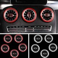 Для Mercedes Benz C Class W205 GLC X253 2015 2019 внутренняя Передняя панель воздуха состояние воздуха вентиляционная розетка турбо отделка кольцо Крышка