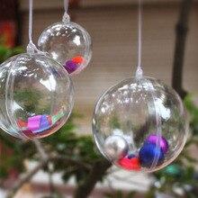 10 шт. романтическое дизайнерское Рождественское украшение в виде шара, прозрачное Рождественское украшение, подарок 4 см