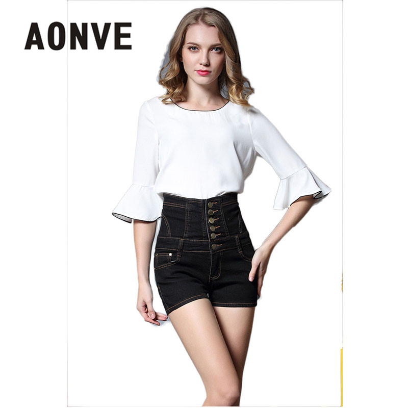 Women's Clothing Bottoms Summer New Loose Shorts Plus Size Wide Leg Pants High Waist Button Adjustable Waist Ladies Denim Shorts Female Bottom Shorts Spare No Cost At Any Cost