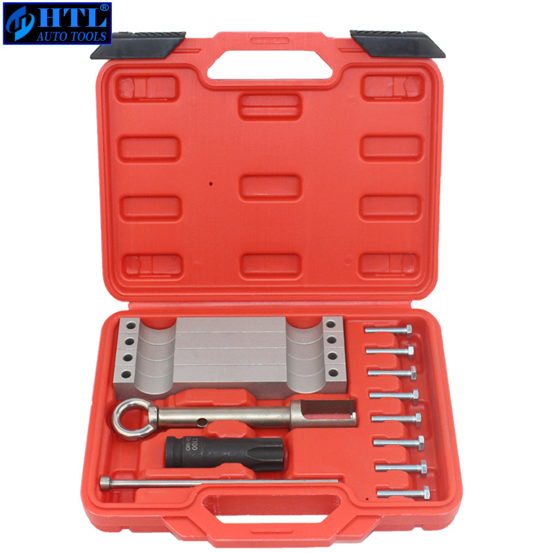 New Timing Tool Set Camshaft Timing Alignment Tools For Mercedes Benz M157/M276/ M278 with T100 and Injector Removal Puller Tool benbaowo tools sealey diesel injector puller mercedes cdi heaters work tools