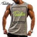 Taddlee marca homem homens musculação tanque suspiro longarina singlets t shirts homem muscular roupas de fitness masculino colete tanque sem mangas