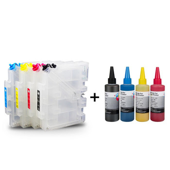 GC41 refillable ink cartridge + 4 Color Sublimation Ink For GC41 for Ricoh SG2100N SG3100 SG3100SNW SG3110DNW SG3110DN Printer