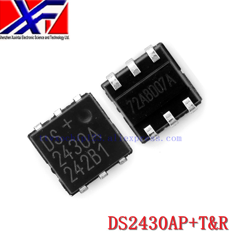 10Pcs/Lot DS2430AP+T&R DS2430AP+ <font><b>DS2430A</b></font> IC EEPROM 256 1WIRE 6TSOC image