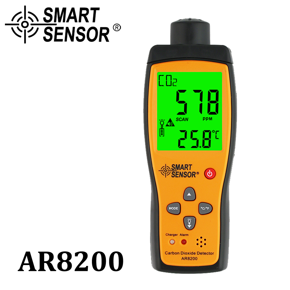 Professional Gas Analyzer CO2 Meter Monitor Gas Detector Carbon Dioxide Detector Indoor Air Quality Monitor CO2 Tester AR8200 набор сверл по металлу irwin cobalt