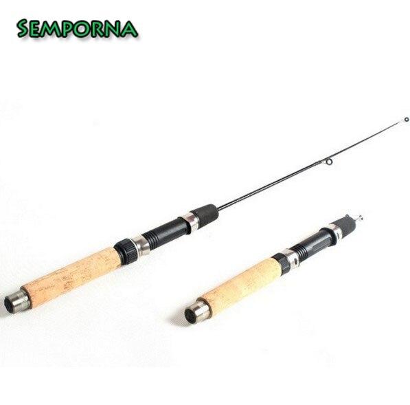 2 section ice fishing rod Mini Portable Ice 50cm short winter fishing rod pole
