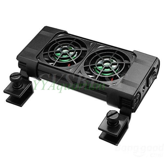 80l Aquarium Sump Cooling Fan Fish Tank Ponds Quiet Chillers Nano Temperature Controller Coldwind With 2