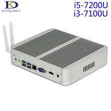 New arrival 7th Gen. i5 7200U KABY LAKE CPU Fanless Mini PC Nettop HTPC 16GB RAM Blu-ray Micro PC Small Size Mini Computer,Wifi