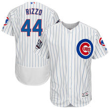 be9301e5409 MLB Men s Chicago Cubs Anthony Rizzo Home White 2016 World Series Champions  Flex Base