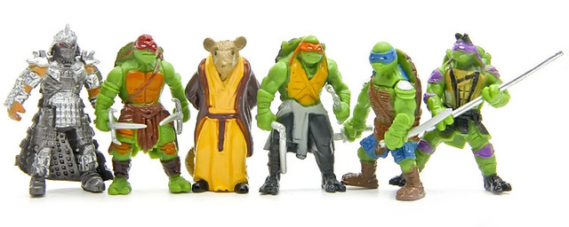 6pcs/lot Turtle Action Figure Toys Set