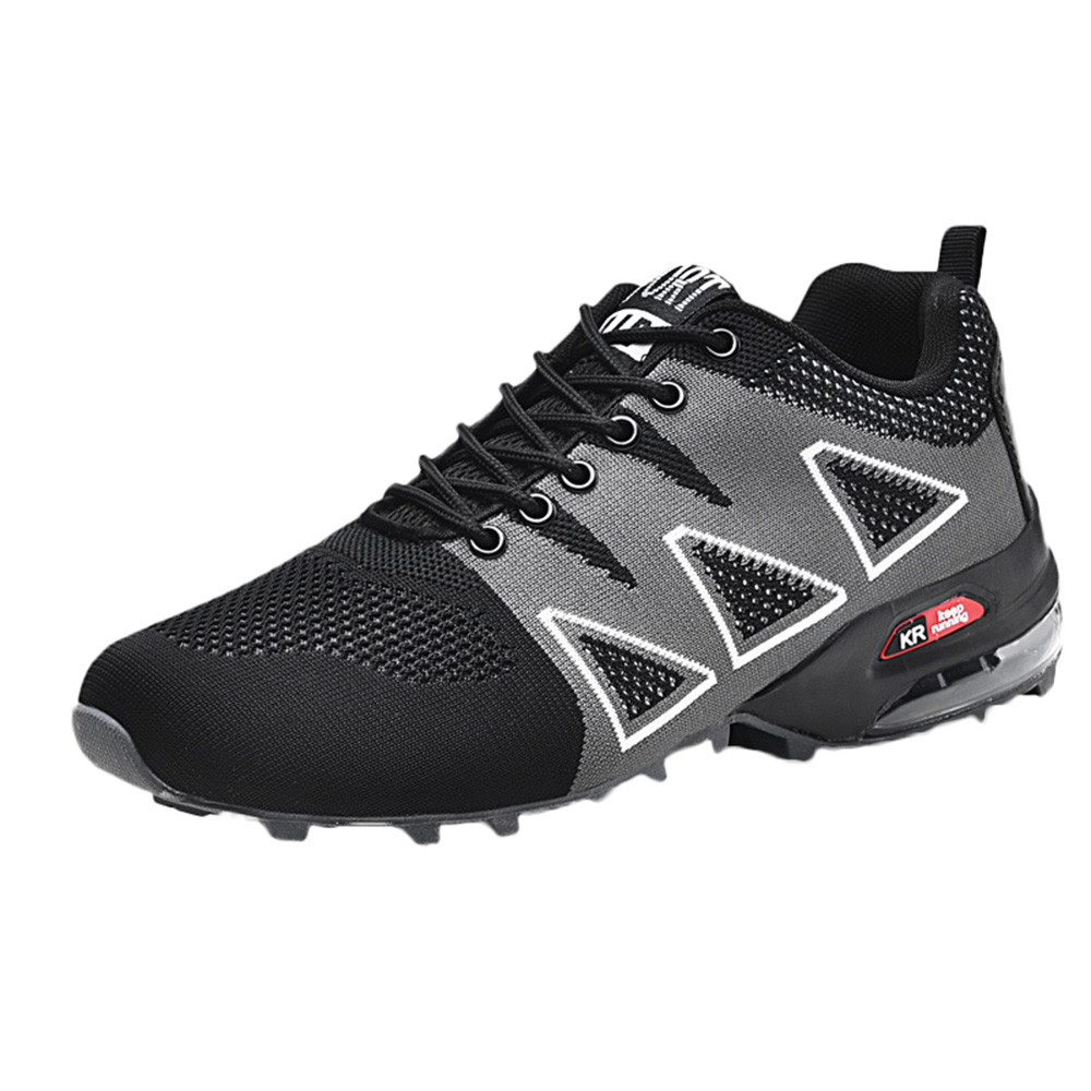 229a72a6e9c996 KLV Mens Outdoor Hiking Shoes Non-Slip Mesh Breathable Lace-up ...
