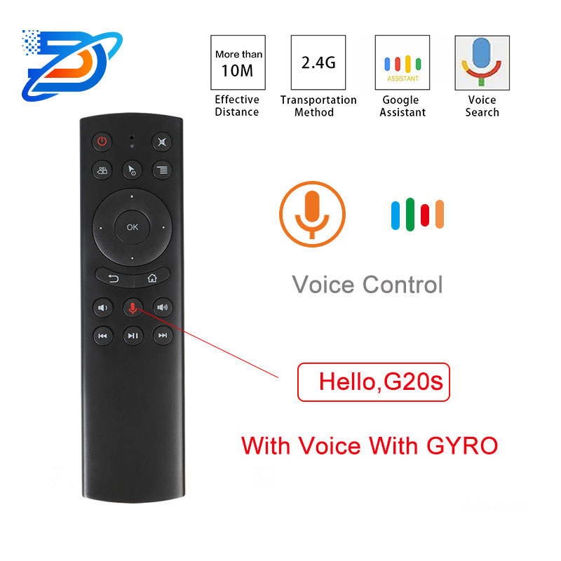 Air mouse G20s Voice <font><b>Remote</b></font> <font><b>Control</b></font> 2.4G Wireless Air Mouse Microphone Gyrosconpe IR Learning for Android tv box Max X96 mi cool image