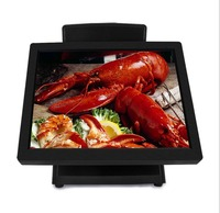 Double 15 inch lED touch screen monitor pos all in one pos system terminals