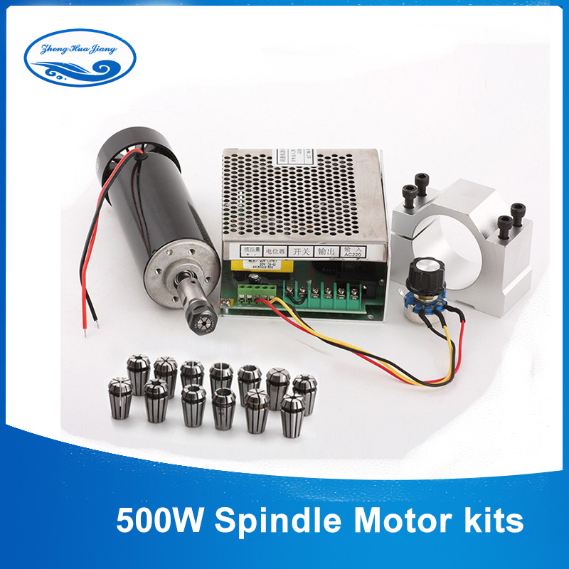 CNC Spindle 500W Air Cooled ER11 Chuck CNC 0 5KW Milling Motor Spindle Speed Power Converter