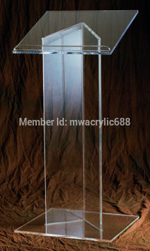 Free Shipping Hot Sell Deluxe Beautiful Cheap Clear Acrylic Lectern Podium Plexiglass