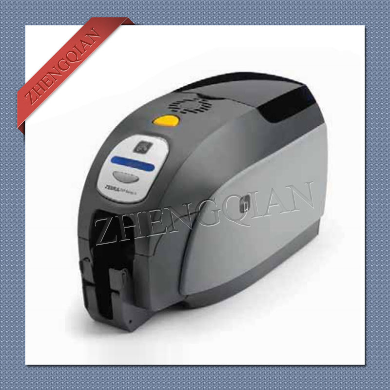 High quality Zebra zxp3 id pvc card printer single sided Chinese version and one 800033-340cn05 YMCKO ribbon original color printer ribbon id card color ribbon used with zebra zxp series 3 printer part no 800033 340cn