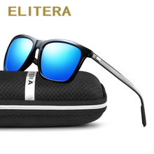 Фотография ELITERA Brand Unisex Retro Aluminum Magnesium Sunglasses Polarized Lens Vintage Eyewear Accessories Sun Glasses For Men/Women