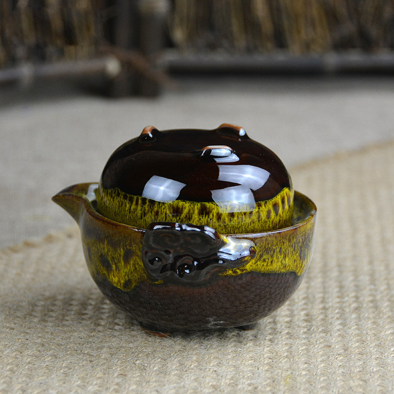 Beautiful Gong Fu Tea Ceremony Travel Teapot 3