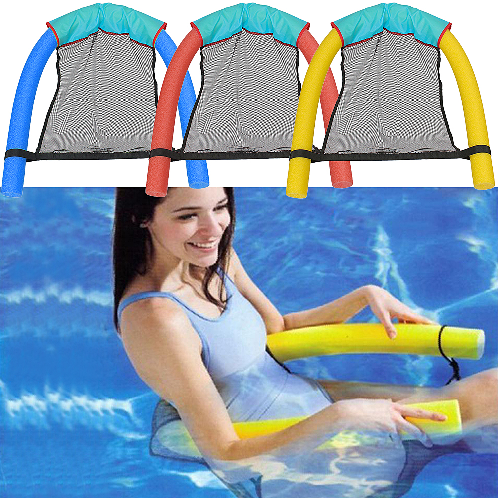 2017 New Novelty Bright Color Pool Floating Chair Swimming Pool Seats  Amazing Floating Bed Chair Pool Noodle Chair Wholesale