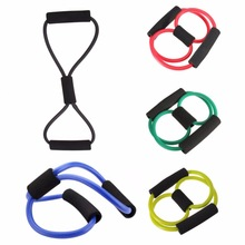 Portable Yoga Tube 8 Type High Quality Rubber Latex Muscle Training Resistance Band Elastic Pull Rope Gym Fitness RANDOM COLOR