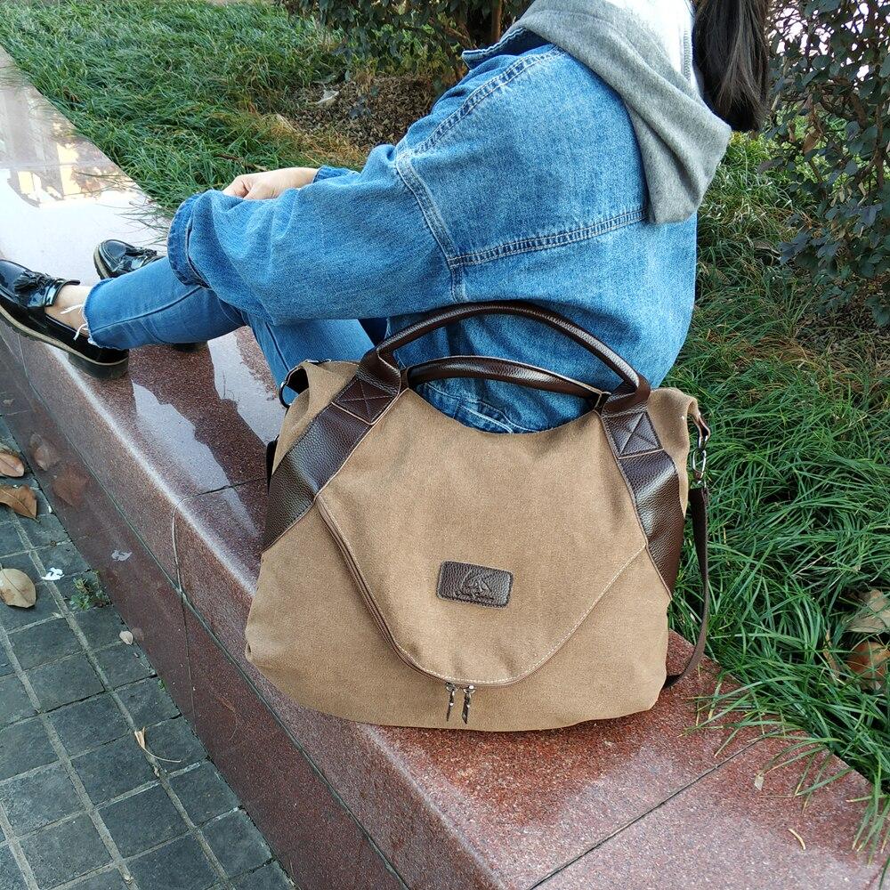 Vintage Frau Handtaschen Großen Tasche Schulter Umhängetaschen für Frauen Sac A Wichtigsten Mode-Designer Leinwand Casual Tote Shopper Taschen