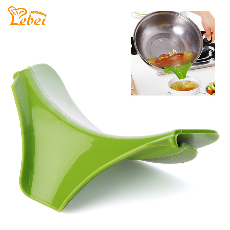 Kitchen Funnel: Silicone Funnel Pots And Pans Round Rim Deflector Anti
