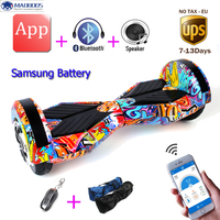 No Tax APP Samsung Battery Two Wheel Self Balance Electric Hoverboard Skateboard Electric Unicycle Standing