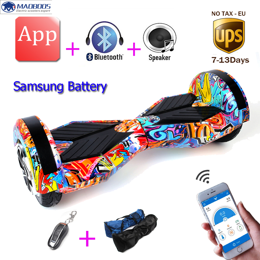 Hoverboard APP Control 8 Inch Two Wheel Self balance Scooters Hoverboard Electric Skateboard Electric Unicycle Scooter promax driven wheel block for gy6 150cc scooters atvs go karts moped quads 4 wheeler dune buggys