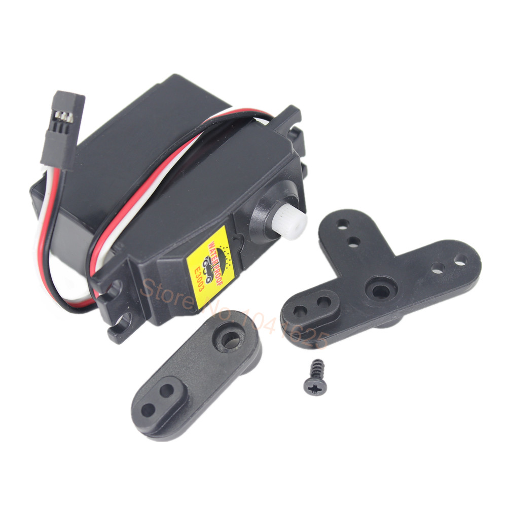 HSP 02073 Electronic Steering Servo 3Kg Torque 106 oz With Arms E3003 For 1/10 1/16 RC Car Parts Model Buggy Monster Truck 4WD hsp 02024 differential diff gear complete 38t for 1 10 rc model car spare parts fit buggy monster