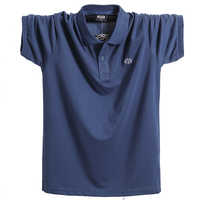 2018 verano hombres Polo camisa de marca de algodón puro hombres de negocios Casual Hombre Polo camisa de manga corta transpirable Polo 5XL