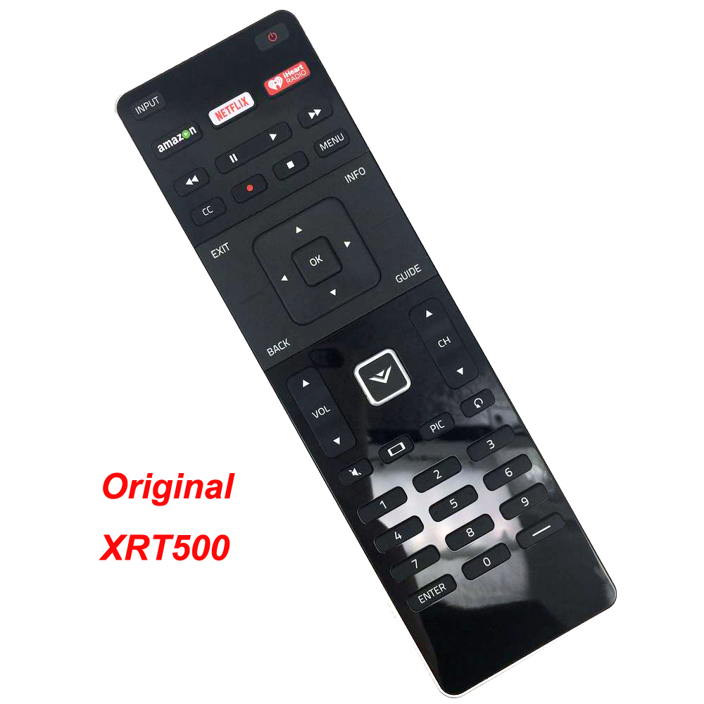 New XRT500 Original Remote Control For Vizio TV With Qwerty Keyboard Amazon NETFLIX iHeart RADIO Apps image