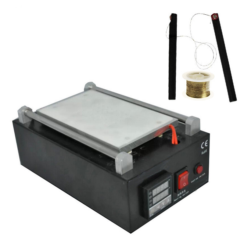 ФОТО Uyue 948Q 110/220V Built-in Pump Vacuum Metal Body Glass LCD Screen Separator Machine Max 7 inches + Cutting Wire