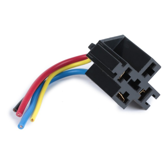 Super 5 Pcs Car Relay Socket 12V 30A 40A 4 Prong 4 Wire Relay Harness Wiring Digital Resources Funapmognl